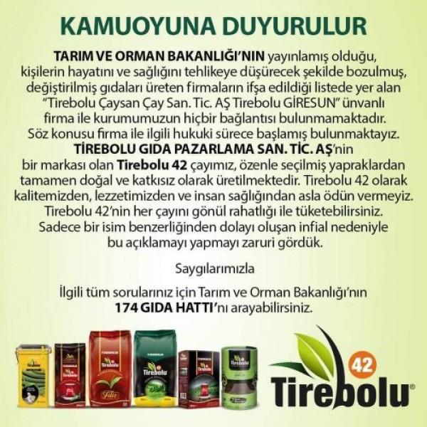 TİREBOLU 42 SİYAH ÇAY KUTU 500G